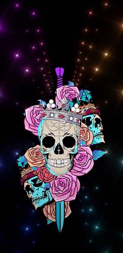 Skull Sugar Skeleton Girly Iphone Galaxy Drawings