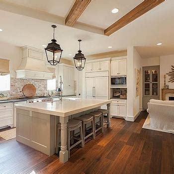 kitchen corner island kitchen with brick backsplash cottage kitchen 3421