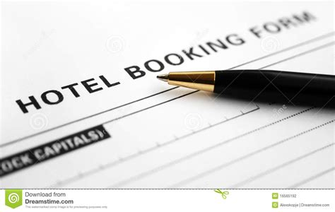 Hotel Booking Form Stock Photo. Image Of Service, Client