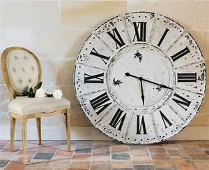 Horloge Murale Blanche : la grande horloge murale en photos ~ Teatrodelosmanantiales.com Idées de Décoration