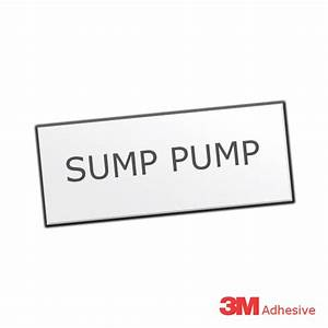 sump pump engraved traffolite label With engraved electrical labels