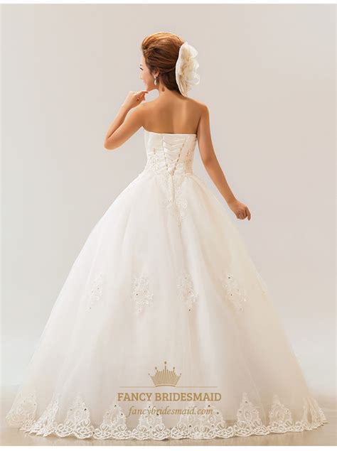 lace strapless wedding dress white wedding dresses