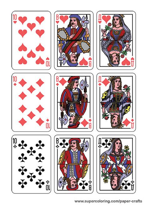 Deck Of Classic Ornate Playing Cards Printable Template