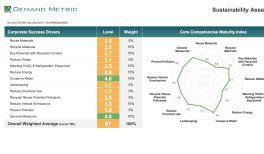 sustainability report template demand metric
