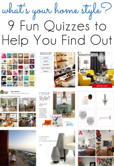 style inspiration  fun quizzes  find  home design