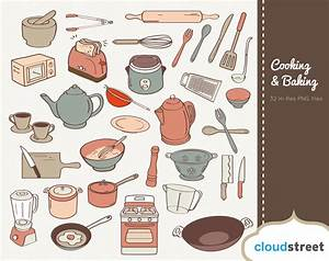 Baking clipart chef tools - Pencil and in color baking ...