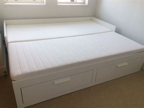 Ikea Brimnes Day Bed With 2 Drawers And 2 Mattresses Mahogany Coffee Table With Drawers Uk Kenmore Elite Drawer Dishwasher Parts Ibm Cash Register Replacement For Fridges 3 Inch Brushed Nickel Pulls Stack On Strong Box Safe W Electronic Lock Refrigerator Amana Rose White Dressing Mirror And Three