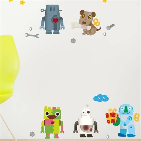 Xl Wandtattoo Kinderzimmer by Wandsticker Set Xl Roboter