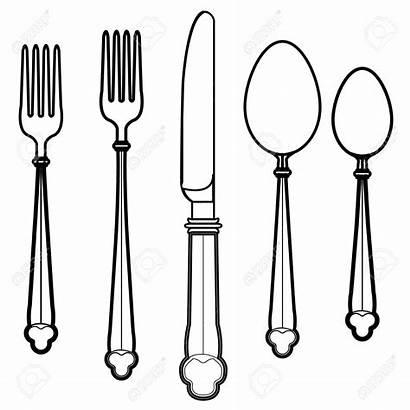 Utensils Utensil Clipart Eating Kitchen Vector Clip