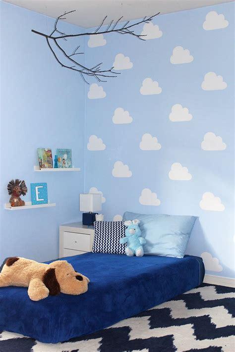 diy cloud stencil  kids bedroom stencil painted