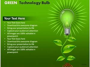 Green Technology Bulb Powerpoint Presentation Slides