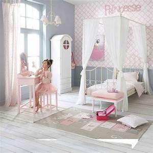 Maison Du Monde Chambre Bebe : lit baldaquin enfant 90x190 en m tal ivoire eglantine ~ Melissatoandfro.com Idées de Décoration