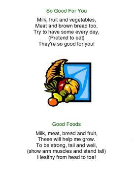 nutrition songs poems and fingerplays poetry toddler 653 | 4aa7e571769591997ba39748d28b4d6a