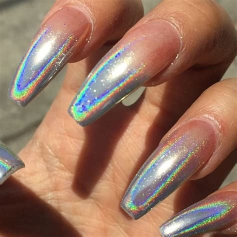 stunning pictures  holographic nail art inspiration