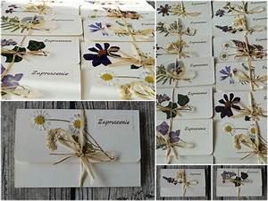 zaproszenia slubne z suszonymi kwiatami dried flowers With wedding invitations with dried flowers