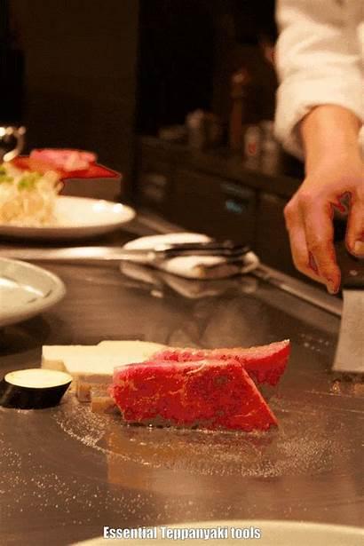 Teppanyaki Tools Grill Grilling Knife Animated Sharp