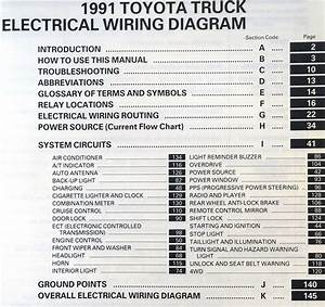 1991 Toyota Truck Electrical Wiring Diagrams Original