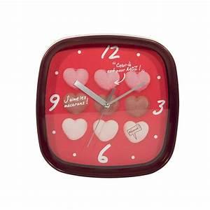 Horloge Murale Rouge : horloge murale macarons rouge ~ Teatrodelosmanantiales.com Idées de Décoration
