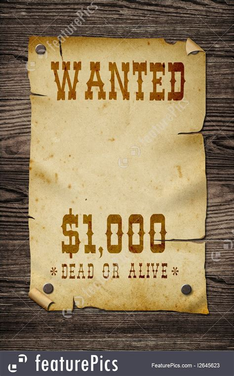 Signs And Info: Old Wanted Sign. - Stock Picture I2645623 ...