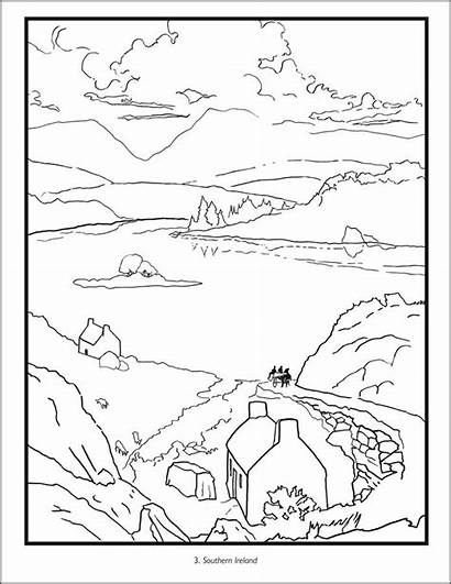 Ireland Coloring Pages Printable Flag Map Irish