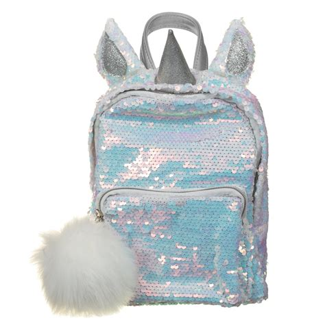 unicorn reversible sequin backpack kids bags backpacks
