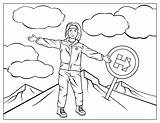 Coloring Climbing Hillary Clinton Mountain Trump Printable Celebrities Sheknows Soothe Coloringonly Everest Mount sketch template