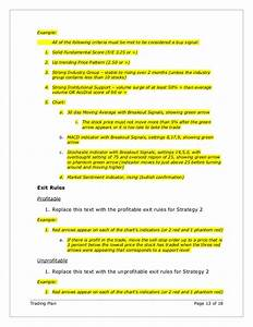 exelent stock trading plan template picture collection With options trading plan template