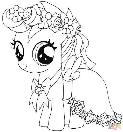 pony scootaloo coloring page  printable