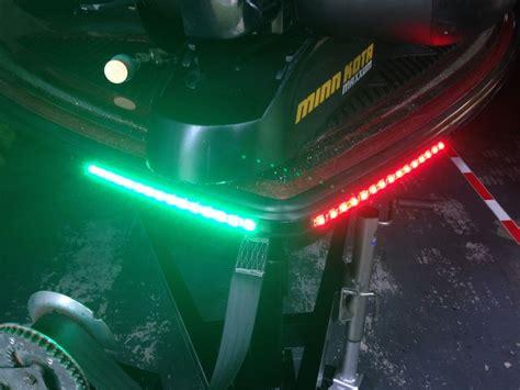 led lights for boats boat led bow lighting green navigation light marine
