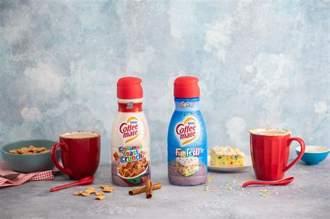 Customize your coffee by adding the right amount of cinnamon flavored coffee creamer. Funfetti and Cinnamon Toast Crunch Coffee Creamers Now Exist