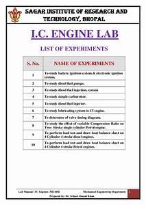 Pdf  Lab Manual Of I C Engine Pdf
