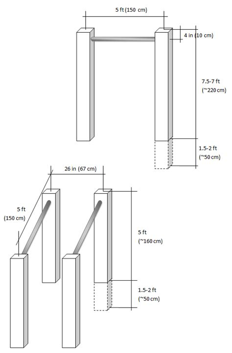 homemade parallel bars  pull  bar outdoor pull