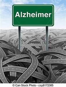 Alzheimer disease and dementia medical concept. Alzheimer ...