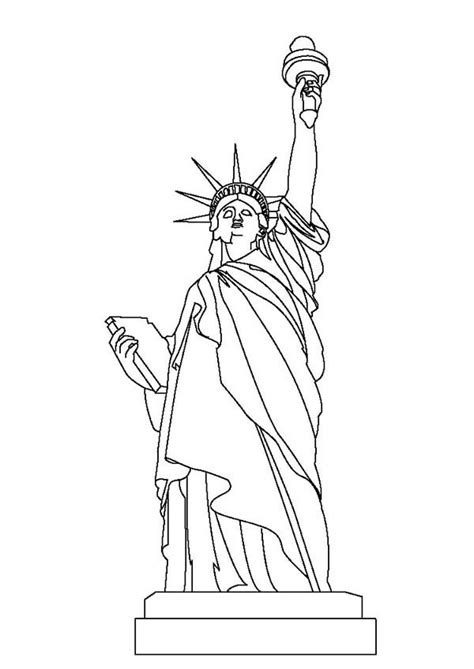 statue  liberty coloring page  print