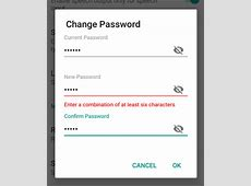 Reset Password Option in SUSI Android App