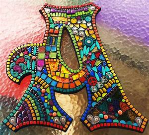 custom letters initials by tina wise crackin39 mosaics With mosaic letter tiles