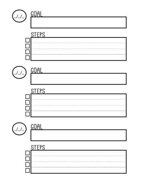 free printable goal setting worksheet planner setting