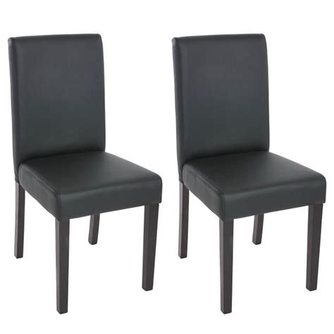 chaise salle a manger noir 2 chaises de salle à manger similicuir noir mat achat
