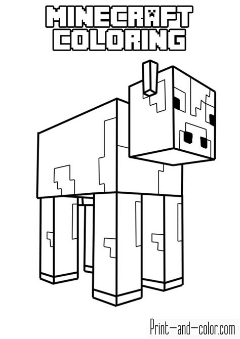 minecraft coloring pages print  colorcom