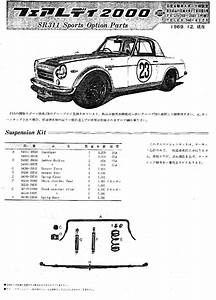 Sr311 Fairlady Roadster Racing Parts Catalog From 1969