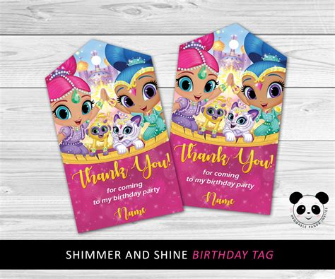 shimmer and shine l shimmer and shine thank you tags shimmer and shine birthday