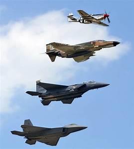 Evolution    P51  F4  F15  U0026 F22  Mustang  Phantom  Eagle