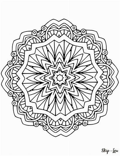 Mandala Coloring Pages Printable Adult Sheets Skiptomylou