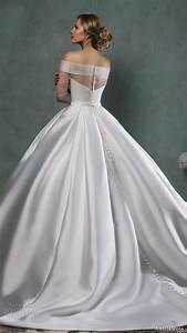 amelia sposa 2016 wedding dresses wedding inspirasi With off the shoulder satin wedding dress