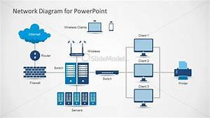 Network Diagram Template For Powerpoint With Icons