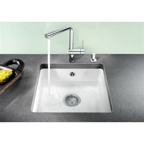 Blanco Subline 500 U Ceramic Undermount SInk Crystal White