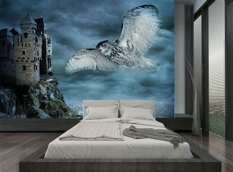 Wall Murals Sky by Castle Sky Blue Owl Wall Mural Photo