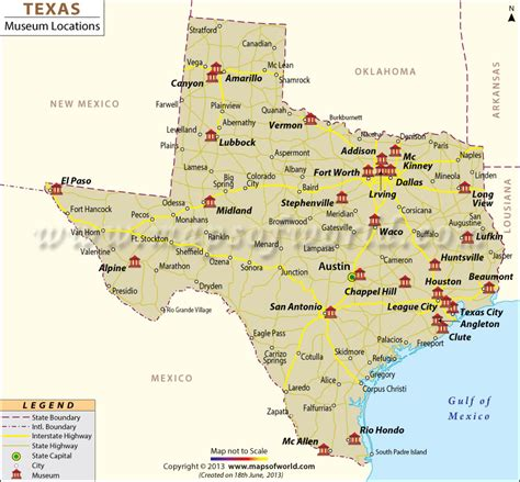List Of Museums In Texas  Texas Museums Map