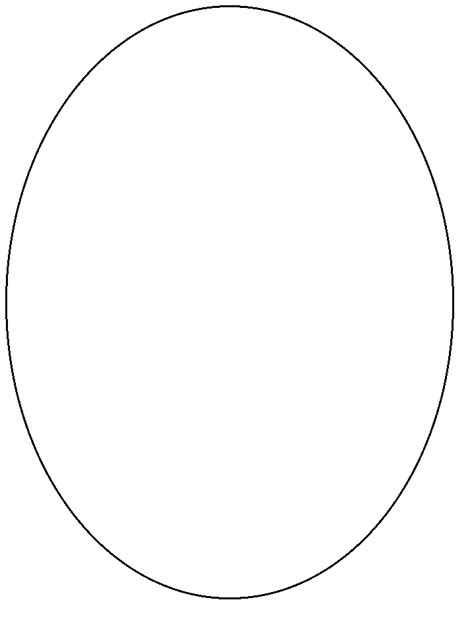 printable oval simple shapes coloring pages coloringpagebookcom
