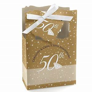 50th anniversary personalized wedding anniversary favor With 50th wedding anniversary favor boxes